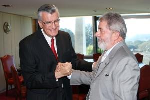 Lula y Gioja en Brasilia por Agua Negra